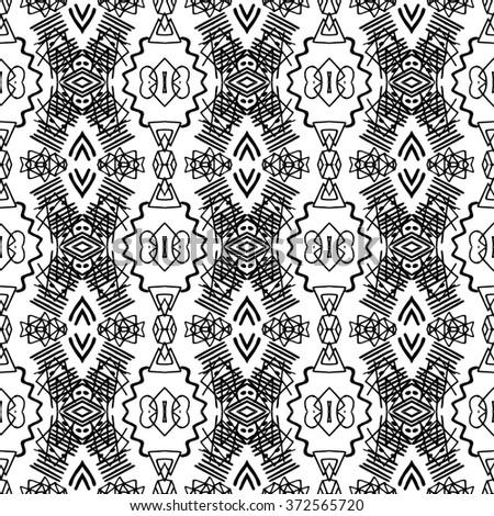 Royalty-free Vector grunge monochrome seamless… #351029927