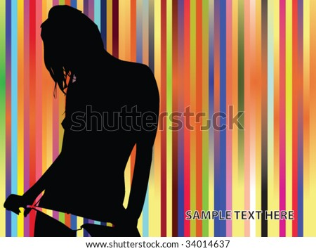 striped multicolored background