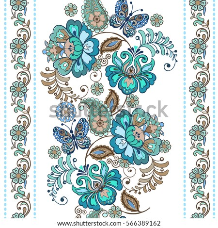 striped pattern with flowers