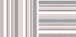 Striped patterns in grey, pink, white. Herringbone textured vertical and horizontal lines for dress, trousers, wallpaper, or other modern textile or paper print. Geometric design.