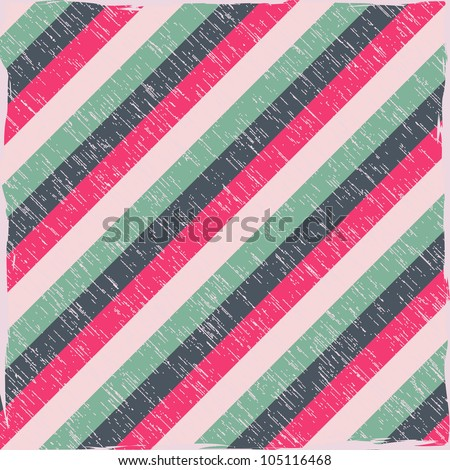 Striped Seamless Pattern with Colorful Diagonal Lines. Vector Illustration