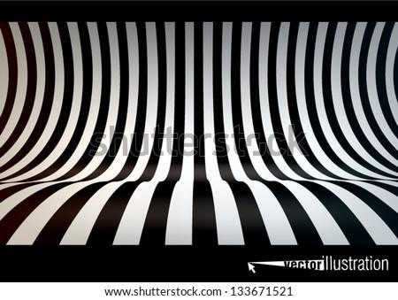 striped studio backdrop  empty