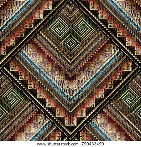 striped tribal embroidery