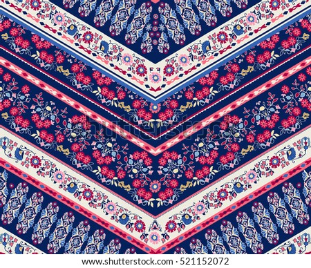 Striped  vector seamless pattern with ethnic and tribal motifs, zigzag lines,  summer fall fashion .