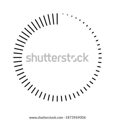 stripes around the circle logo countdown, vector circular icon with stripes around the perimeter, time sign