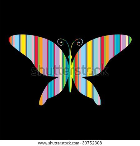 stripes butterfly