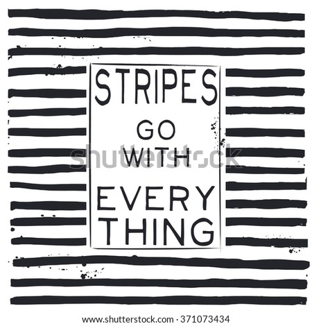 stripes go with everything