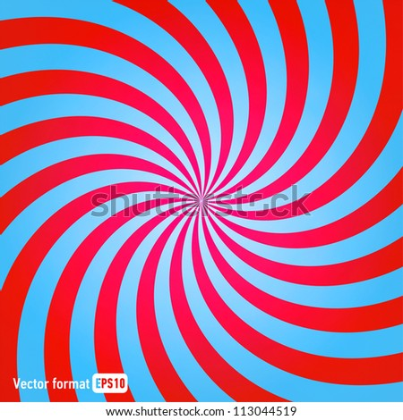 Stock Photo stripes red blue circle square abstract