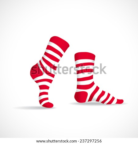 stripped socks  illustration