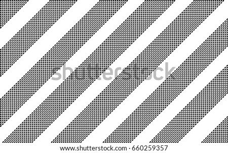 strips of the dotted lines at an angle of 45 degrees. abstract white background. halftone effect. monochrome texture. vector illustration