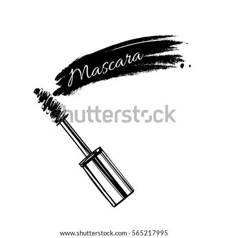 stroke of black mascara with