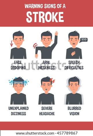 Stroke vector infographic. Stroke symptoms. Infographic elements.