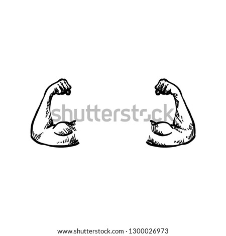 Strong Arm Biceps Muscle
