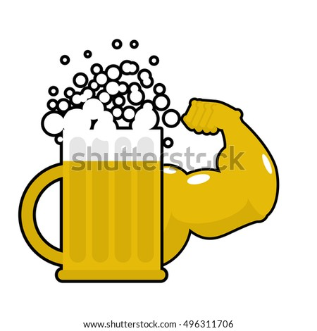 strong beer mug with big