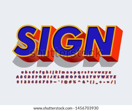 Strong bold modern alphabet style