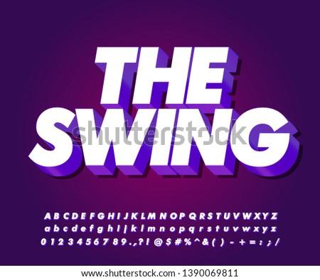 Strong bold modern font effect, 3D alphabet vector design for title or sticker