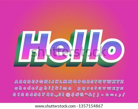 Strong bold modern font effect for sticker