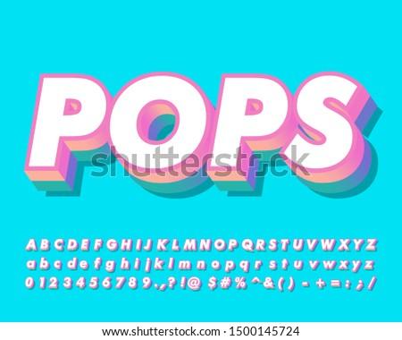 Strong bold pop art alphabet style