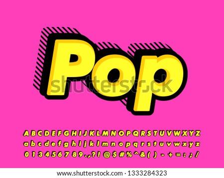 Strong bold pop art font effect