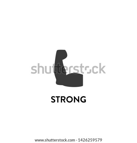 strong icon vector. strong vector graphic illustration