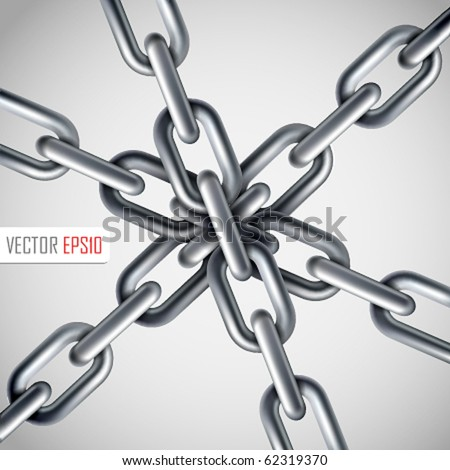 Strong link concept. Vector Illustration