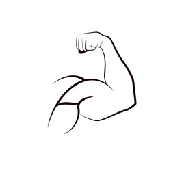 Strong man  Muscle arm.