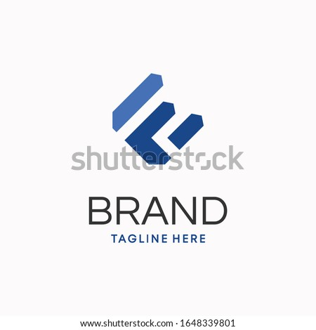 Strong modern initial letter f and e logo template Photo stock ©