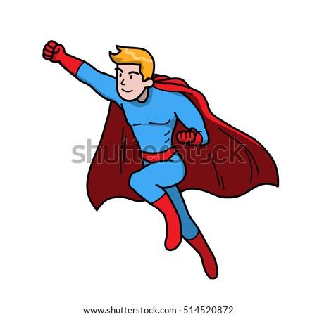 strong superhero power man to