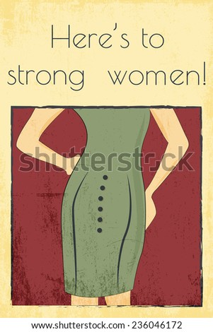 strong woman background