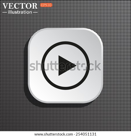 Structural gray background with shadow, white square. play, vector, EPS 10 #254051131