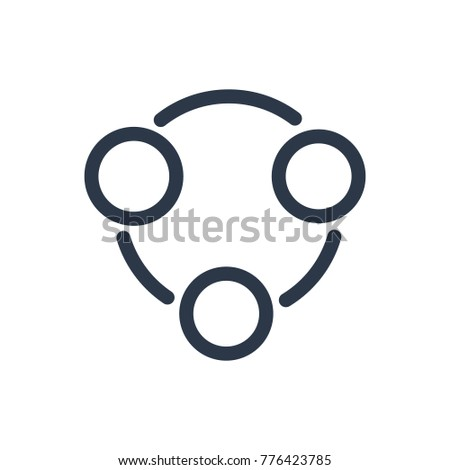 Structure icon. Isolated organisation and structure icon line style. Premium quality vector symbol drawing concept for your logo web mobile app UI design.