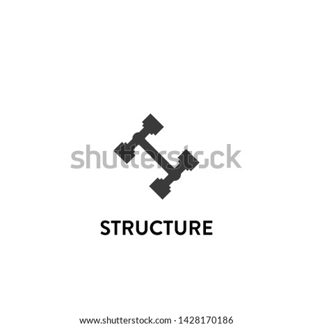 structure icon vector. structure vector graphic illustration