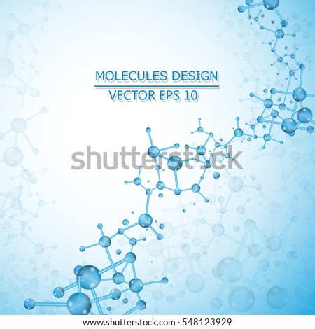 Structure molecule of DNA and neurons. Genetic and chemical compounds. Medicine, science and technology concept. Vector illustration.