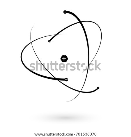 structure of the atom. atom icon. vector illustration