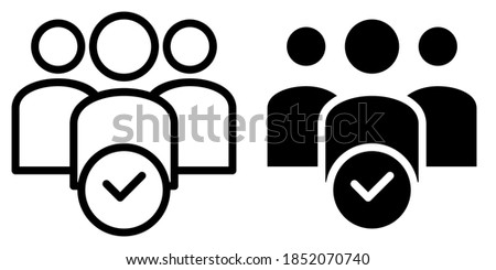 Student Absence, attendance of participants in Outline and Glyph Icon