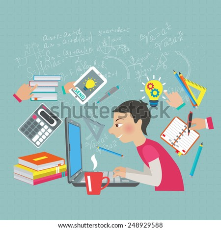 student at notebook computer