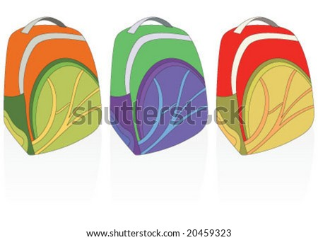 Student bags in three colors