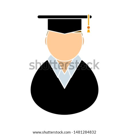 student icon. flat illustration of student vector icon. student sign symbol