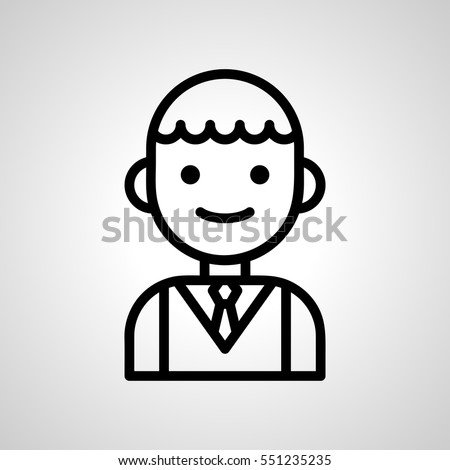 student icon. isolated sign symbol