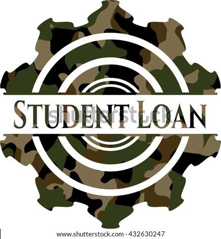 Student Loan camo emblem