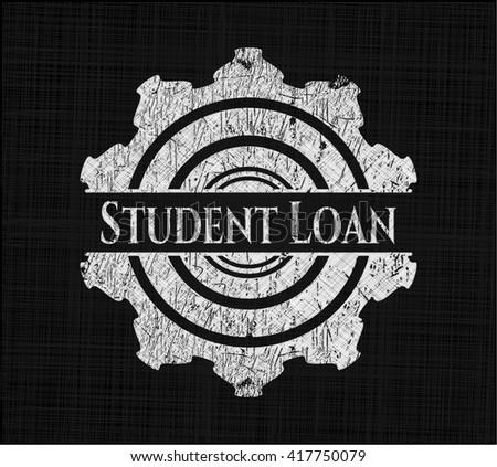 Student Loan on chalkboard