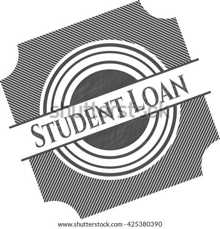 Student Loan pencil effect
