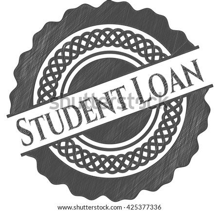 Student Loan pencil strokes emblem