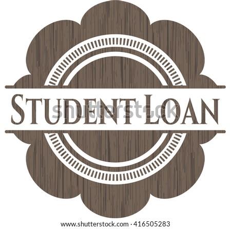 Student Loan vintage wooden emblem