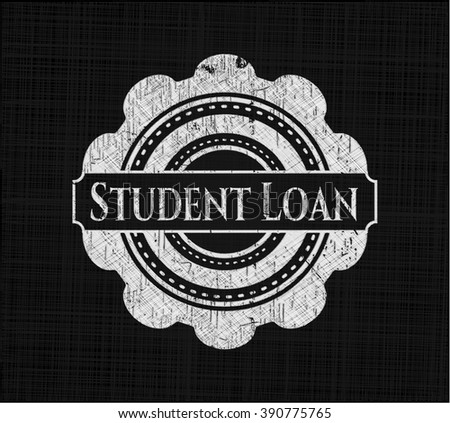 Student Loan with chalkboard texture