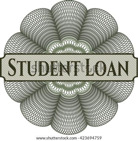 Student Loan written inside abstract linear rosette