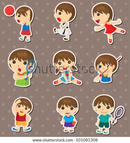 student sport stickers