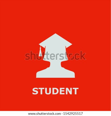 Student symbol. Outline student icon. Student vector illustration for graphic art.