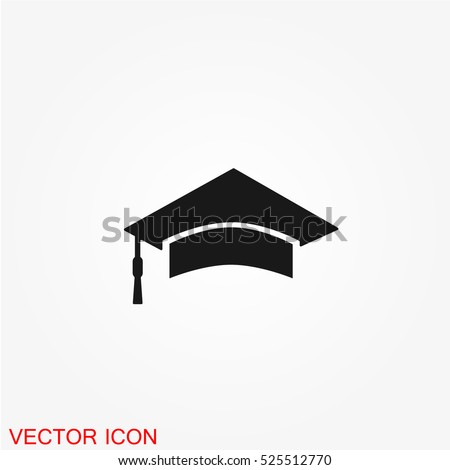 Students cap, education Icon vector