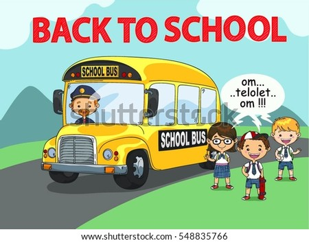 School Bus Illustrations Free Vector Pack - Download Free